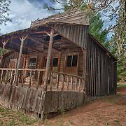 Leaning Wooden Storefront Shack - Golden, Oregon - HDR