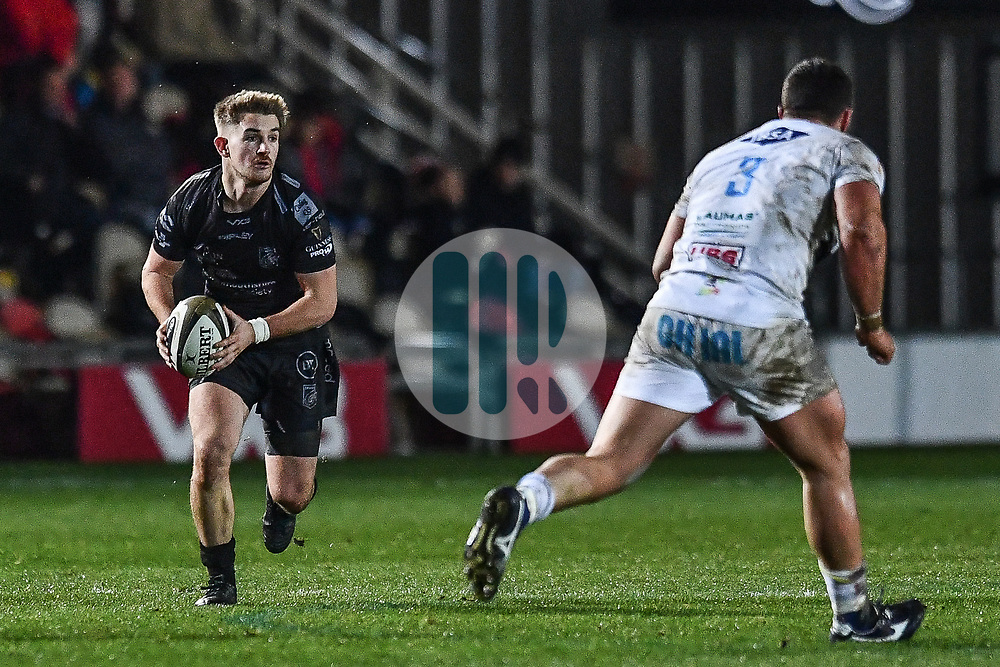Arwel Robson of Dragons in action during todays match<br /> <br /> Photographer Craig Thomas/Replay Images<br /> <br /> Guinness PRO14 Round 7 - Dragons v Zebre - Saturday 30th November 2019 - Rodney Parade - Newport<br /> <br /> World Copyright © Replay Images . All rights reserved. info@replayimages.co.uk - http://replayimages.co.uk