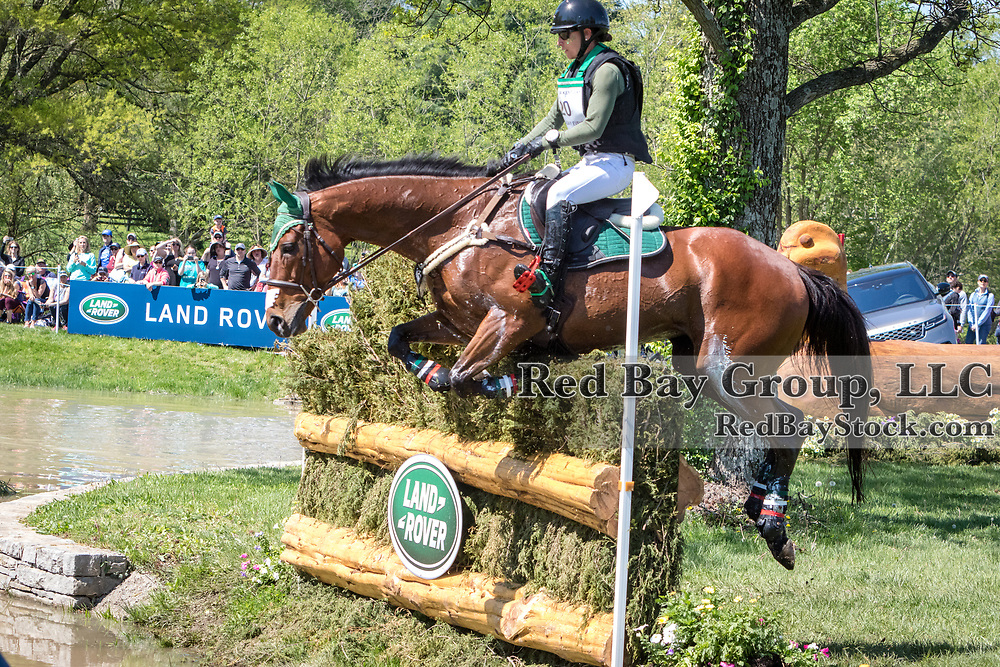 Daniela Moguel (MEX) and Cecelia during the cross-country at the 2019 Land Rover Kentucky Three-Day Event presented by MARS EQUESTRIAN in Lexington, Kentucky
