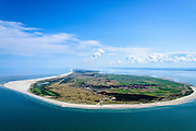 Nederland, Friesland, Ameland, 05-08-2014; overzicht van eiland Ameland, in oostelijke richting. Links de Noordzee en rechts de Waddenzee. <br /> Wadden island Ameland, overview looking East.<br />  luchtfoto (toeslag op standard tarieven);<br /> aerial photo (additional fee required);<br /> copyright foto/photo Siebe Swart