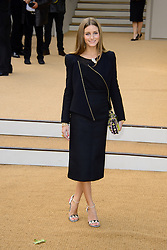 Arrivals for Burberry Prorsum Spring / Summer 2014. <br /> Olivia Palermo arrives for the Burberry Prorsum Spring / Summer 2014 show, London, United Kingdom. Monday, 16th September 2013. Picture by Chris Joseph / i-Images