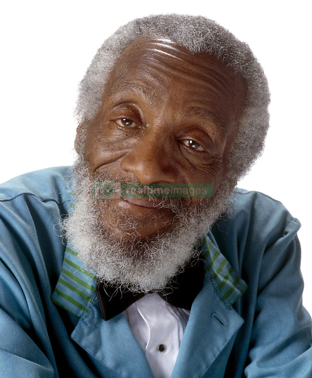August 19, 2017: FILE: RICHARD CLAXTON GREGORY (born October 12, 1932 died August 19, 2017) was an American civil rights activist, social critic, writer, entrepreneur, comedian, conspiracy theorist and occasional actor. Pictured: Dec 02, 2002; Hollywood, CA, USA; DICK GREGORY as the bathroom attendant in the comedy ''The Hot Chick'' directed by Tom Brady.  (Credit Image: © Walt Disney Pictures/Entertainment Pictures/ZUMAPRESS.com)