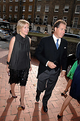 VISCOUNT & VISCOUNTESS LINLEY at the wedding of Chloe Delevingne to Louis Buckworth at St.Paul's Knightsbridge, London on 7th September 2007.<br />