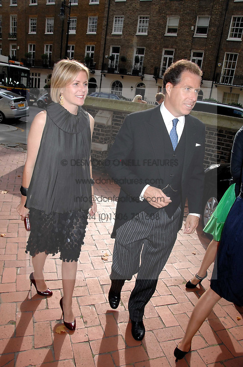 VISCOUNT & VISCOUNTESS LINLEY at the wedding of Chloe Delevingne to Louis Buckworth at St.Paul's Knightsbridge, London on 7th September 2007.<br /><br />NON EXCLUSIVE - WORLD RIGHTS