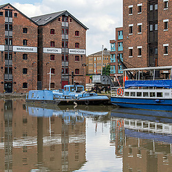 Gloucester historic docklands during the coronavirus lockdown. Gloucester city June 2020