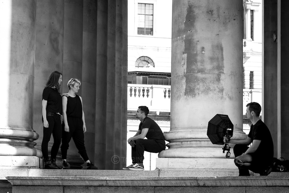 Photograph from a session with Luke, Kate and Rosa, directed by Elouise, in London on 22nd May 2016. Photograph by Andrew Tobin/Tobinators Ltd