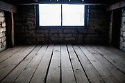Inside of one of the brick barracks which had been the first buildings for prisoners constructed at the Auschwitz II-Birkenau camp. In the BI section 30 such barracks were errected in total.