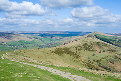 The Great Ridge Back Tor and Losehill seen from Mam Tor near Castleton in the Hope Valley <br /> <br />  19 April  2015<br />  Image © Paul David Drabble <br />  www.pauldaviddrabble.co.uk