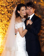 FILE: Katie Holmes & Tom Cruise WEdding