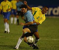 Fotball<br />19/11/03 - WORLD CUP QUALIFYING 2006<br />BRASIL (3) VS. URUGUAY (3) - Curitiba - Brasil.<br />A World Cup Qualifying match played between the National football team of Brasil and Uruguay in Curitiba, Brasil. <br />Alvaro Recoba (Uruguay)<br />Foto: Digitalsport