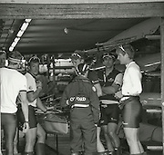 London, Great Britain, GV, General View, OUBC,BLue Boat crew, in conversation. BNY Mellon, University Men's Boat Race Tideway Week, Putney to Mortlake. ENGLAND. <br /> <br /> Tuesday   07/04/2015<br /> <br /> [Mandatory Credit;Intersport-images]