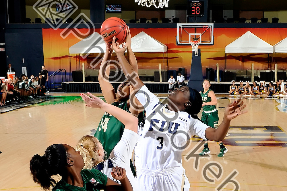 2016 February 04 - FIU's Tianah Alvarado (3). <br /> Florida International University defeated UAB, at FIU Arena, Miami, Florida. (Photo by: Alex J. Hernandez / photobokeh.com) This image is copyright by PhotoBokeh.com and may not be reproduced or retransmitted without express written consent of PhotoBokeh.com. ©2016 PhotoBokeh.com - All Rights Reserved