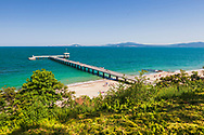 View from above to Burgas bridge