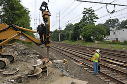 Electrical underground work at the construction of the Commuter Railroad Station at Fairfield Metro Center, CT - Site visit 12 of once per month Chronological Documentation.