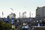 Fans fill the streets during the Brighton & Hove Albion Football Club Promotion Parade at Brighton Seafront, Brighton, East Sussex. United Kingdom on 14 May 2017. Photo by Ellie Hoad.
