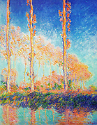 Claude Monet  (1840 – 1926) French impressionist  artist, Poplars painted 1891