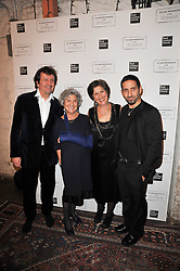 Left to right, SIMON BURSTEIN, JOAN BURSTEIN,  CAROLINE BURSTEIN and her son JOSEPH KONIAK at a party to celebrate the launch of the CLub Monaco brand at Browns held at the Royal Academy of Art, Piccadilly, London on 19th February 2011.