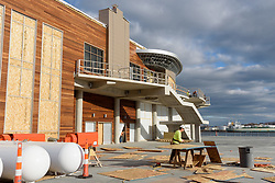 Boathouse at Canal Dock Phase II | State Project #92-570/92-674 Construction Progress Photo Documentation No. 17 on 1 December 2017. Image No. 07 South Elevation