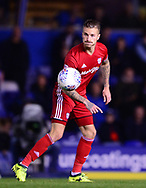 Joe Bennett of Cardiff City in action .EFL Skybet championship match, Birmingham city v Cardiff city at St.Andrew's stadium in Birmingham, the Midlands on Friday 13th October 2017.<br /> pic by Bradley Collyer, Andrew Orchard sports photography.