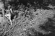 Gertraud Braun Picking Wood in the Forest, Austria, 1934