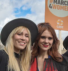 "City Hall, London, March 5th 2017. Stars join March4Women through London. Mayor of London Sadiq Khan and suffragette descendents prepare to march and ""sing for a fairer world ahead of International Women's Day"". Attended by Annie Lennox, Emeli Sande, Helen Pankhurst, Bianca Jagger and with musical performances from Emeli Sande, Melanie C and more. PICTURED: Natasha Beddingfield, Kate Nash"