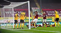 Football - 2020 / 2021 Premier League - Burnley vs Wolverhampton Wanderers - Turf Moor<br /> <br /> Chris Wood of Burnley scores at Turf Moor <br /> <br /> <br /> COLORSPORT/LYNNE CAMERON