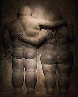 Bogota, Colombia  - February 4, 2017 : Museo Botero museum sculpture in La Candelaria area Bogota capital city of Colombia South America