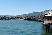 Stearns Wharf Looking Towards Downtown Santa Barbara