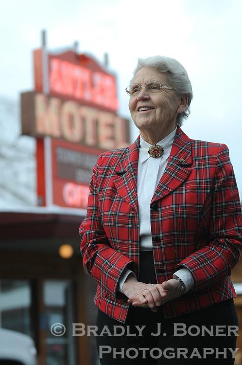 Clarene Law at Antler Motel