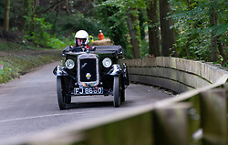 Boness Revival hillclimb motorsport event in Boness, Scotland, UK. The 2019 Bo'ness Revival Classic and Hillclimb, Scotland's first purpose-built motorsport venue, it marked 60 years since double Formula 1 World Champion Jim Clark competed here.  It took place Saturday 31 August and Sunday 1 September 2019. Car 4, Barry Clark, Austin Seven.
