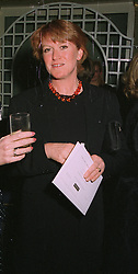 MRS JEREMY SACHER at a fashion show in London on April 7th 1997.LXL 34 WORO