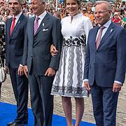 NLD/Terneuzen/20190831 - Start viering 75 jaar vrijheid,  Koning Filip van Belgie en koningin Mathilde en Paul Blokhuis