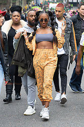 © Licensed to London News Pictures. 26/08/2018. London, UK. Former X-Factor winner ALEXANDER BURKE officially opens the start of the Notting Hill carnival. The two day event is the second largest street festival in the world after the Rio Carnival in Brazil, attracting over 1 million people to the streets of West London. Photo credit: Ray Tang/LNP