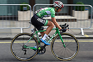 Katarzyna Niewiadoma (POL) riding for WM3 Pro Cycling on her way to becoming the overall winner of the OVO Energy Women's Tour, London Stage, at Regent Street, London, United Kingdom on 11 June 2017. Photo by Martin Cole.