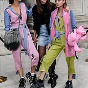 Sofiya, Diana Vi, Spiral Man - Design: 1.4.1.3 attend Fashion Scout - SS19 - London Fashion Week - Day 2, London, UK. 15 September 2018.