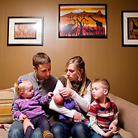 010813       Cable Hoover<br /> <br /> Tim and Chelsea Eisenga and their children Jeremiah and Grace recently welcomed a new addition to their family. Their newborn daughter was the first baby born at RMCH in 2013.