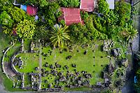 France, Martinique, Saint-Pierre, ruines de l'église du Fort // France, West Indies, Martinique, Saint-Pierre, ruins of the Fort Church