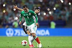 June 29, 2017 - da Alemanha disputa lance com  do México durante partida entre Alemanha x México válida pelas semifinais da Copa das Confederações 2017, nesta quinta-feira (29), realizada no Estádio Olímpico de Sochi, em Sochi, na Rússia. (Credit Image: © Heuler Andrey/Fotoarena via ZUMA Press)