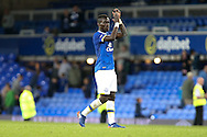 Idrissa Gueye of Everton looks dejected after the final whistle. EFL Cup, 3rd round match, Everton v Norwich city at Goodison Park in Liverpool, Merseyside on Tuesday 20th September 2016.<br /> pic by Chris Stading, Andrew Orchard sports photography.