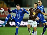 Fotball , 27. oktober 2019 , Eliteserien , Mjøndalen - Sarpsborg 0-0<br /> Sondre Solholm Johansen , MIF<br /> Kyle Lafferty , S08