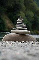 Rocks balanced.