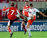 ◊Copyright:<br />GEPA pictures<br />◊Photographer:<br />Helmut Fohringer<br />◊Name:<br />Rasiak<br />◊Rubric:<br />Sport<br />◊Type:<br />Fussball<br />◊Event:<br />OEFB, WM Qualifikation, Laenderspiel, Oesterreich vs Polen, AUT vs POL<br />◊Site:<br />Wien, Austria<br />◊Date:<br />09/10/04<br />◊Description:<br />Markus Schopp, Martin Stranzl  (AUT), Grzegorz Rasiak (POL)<br />◊Archive:<br />DCSFH-091004504<br />◊RegDate:<br />09.10.2004<br />◊Note:<br />8 MB - BK/WU