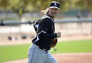 GLENDALE, AZ - FEBRUARY 24:  Jeff Samardjiza #29 of the Chicago White Sox looks on during spring training workouts on February 24, 2015 at The Ballpark at Camelback Ranch in Glendale, Arizona. (Photo by Ron Vesely)   Subject:   Jeff Samardzija