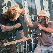 BALTIMORE United States - May 22, 2015: Shane Embury and Kevin Sharp of Lock Up, perform at Maryland Deathfest