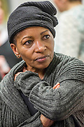 "Bonnie Greer(social critic and playwright, pictured), Andrew Cracknell (author of ""The Real Mad Men""), Gail Parminter (creative director, Madwomen), Heather Alderson (managing partner, BBH) and Rory Ahern (partner, Rubber Republic) are panelists at the East London Fawcett Group with the subject: Who Cares What She Thinks? Advertising and its impact on women. Held at Sapient Nitro, Eden House, Spital Square, London, UK, 27 March 2013."