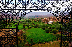 The view of the town of Teloet from a window in the part ruined and abandoned Kasbah at Telouet, southern Morocco<br /> <br /> (c) Andrew Wilson | Edinburgh Elite media