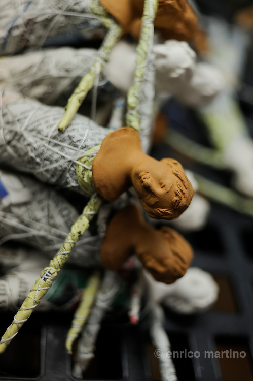 Lecce, the workshop of Claudio Riso is one of the most renowned papier-machè craftsmen.
