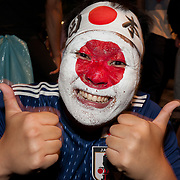 2018 Japanese Fans Celebrate World Cup Victory