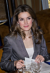 Princess of Spain, Letizia, attends meeting organised by the Antena 3 foundation, Madrid, Spain, December 3, 2012. Photo by Ivan L. Naughty / DyD Fotografos / i-Images...SPAIN OUT