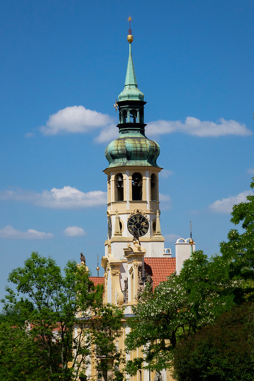 Loreto Church is a pilgrimage destination in Prague, Czech Republic. It consists of a cloister, the church of the Lord's Birth, the Santa Casa and a clock tower with a famous chime